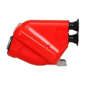 Righetti ACTIVE Airbox - Red 30mm KZ Air Box w/Chrome Tubes