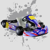 CKR Halibut Kid Kart Chassis with Comer 50cc